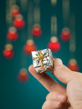 Small gift box handheld Royalty Free Stock Image