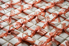 Small gift boxes. Small, all-occasion gift boxes Royalty Free Stock Photos
