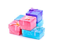 Small gift boxes for jewelry Stock Photography