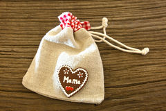 A small gift jute sacks Royalty Free Stock Photo