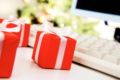 Small giftboxes Royalty Free Stock Photography