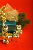 Small gifts around big christmas Royalty Free Stock Photography
