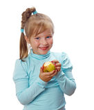Small girl with  apple Stock Image