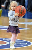 Small girl with the ball Royalty Free Stock Image