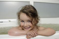 The Small girl in bath. Royalty Free Stock Images