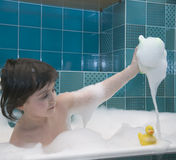 Small girl in bath Royalty Free Stock Photography
