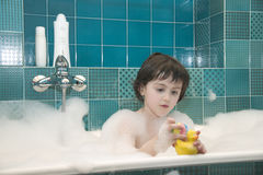 Small girl in bath Royalty Free Stock Image