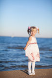 Girl on the beach Stock Photos