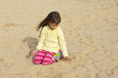 Small girl at beach Stock Photography