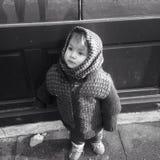 Small girl begging 2. Taken in Sibiu Royalty Free Stock Images