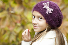 Small girl with big eyes Royalty Free Stock Photo