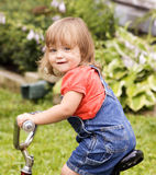 Small girl on bike Royalty Free Stock Photo