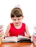 Small Girl with a Book Stock Photos