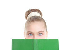 Small girl with a book Royalty Free Stock Image