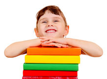 Small Girl with a Books Royalty Free Stock Photo