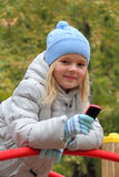 Small girl with cellular phone Royalty Free Stock Photos