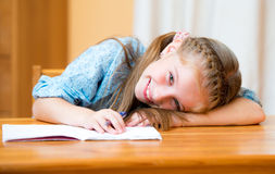 Small girl in a classroom Royalty Free Stock Images