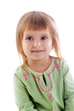 Small girl close-up Stock Images