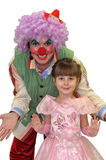 The Small girl and clown. Stock Image