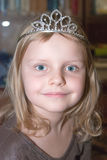 Small girl in diadem Stock Image