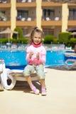 Small girl eating ice cream Royalty Free Stock Photo