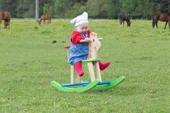 Small girl on the farm Stock Photo