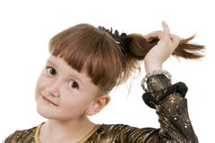 Small girl of fashion Royalty Free Stock Photos