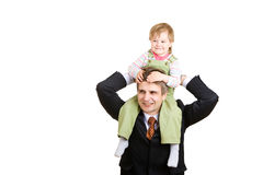 Small girl with father Stock Images