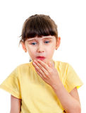Small Girl feel Toothache Royalty Free Stock Images