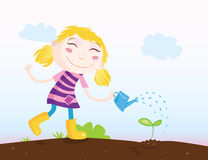 Small girl in Garden Royalty Free Stock Photo