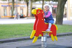 Small girl  having fun Royalty Free Stock Photography
