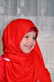 Small girl with hijab royalty free stock images