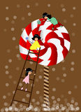 Small girl with lollipop Royalty Free Stock Images