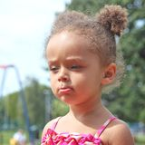 Small girl of mixed heritage Royalty Free Stock Photos