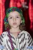 Small Girl in National Romanian costume Royalty Free Stock Photos