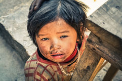Small girl with necklace in Nepal Stock Photography