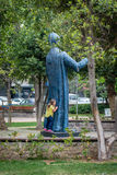 Small girl in the park in Istanbul, Turkey Royalty Free Stock Photos