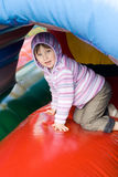Small girl in play centrer. Stock Photo