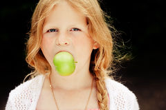 Small girl portrait Stock Images
