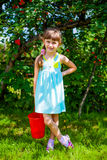 Small Girl Portrait. Little Girl Portrait in the Summer Garden royalty free stock photo