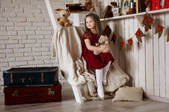 Small girl posing Stock Image