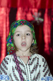 Small Girl in Romanian costume Royalty Free Stock Images