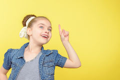Small girl showing different emotions Stock Photo