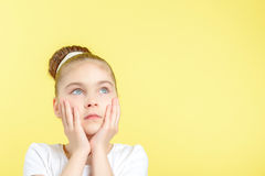 Small girl showing different emotions Royalty Free Stock Image