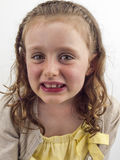 Small girl showing gap in teeth Royalty Free Stock Photography