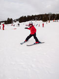 Small girl skiing Royalty Free Stock Photography
