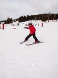 Small girl skiing Royalty Free Stock Photography