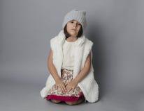 Small girl in studio Stock Photos