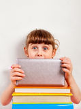Small Girl with Tablet Computer Royalty Free Stock Image