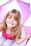 Small girl under umbrella Royalty Free Stock Image